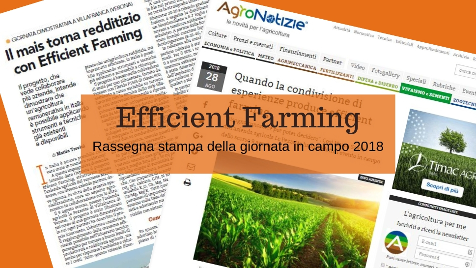 EFFICIENT FARMING, parlano di noi