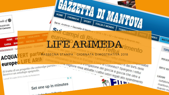 Rassegna stampa LIFE ARIMEDA 2018