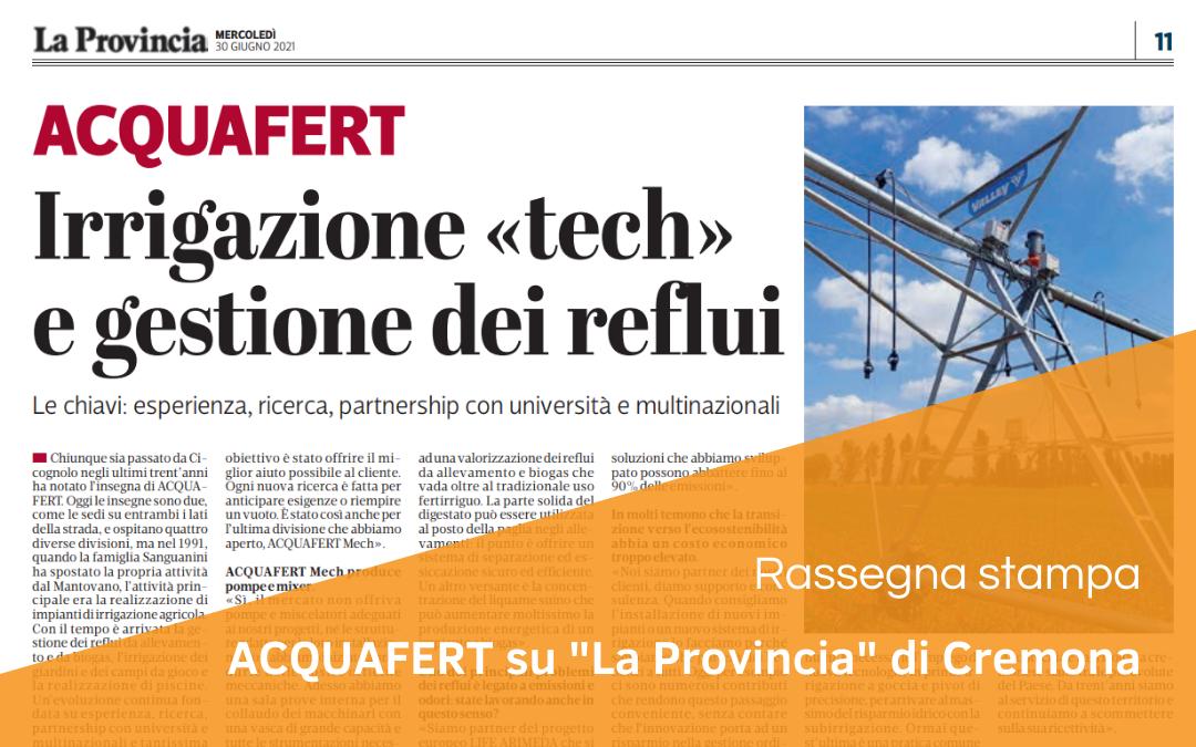 """""""La Provincia"""" di Cremona parla di Acquafert"""